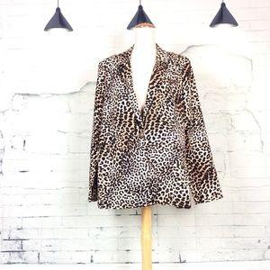 NWT JustFab Cheetah Print Blazer